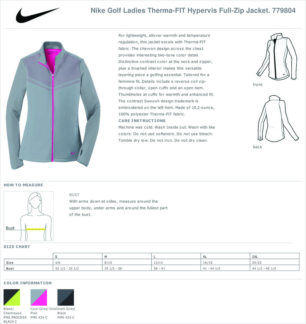 779804 - nike golf ladies therma-fit hypervis full-zip jacket 0aa0ee394