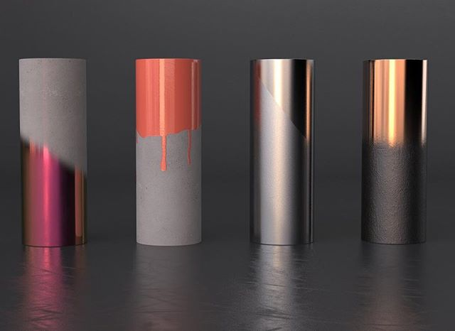 A little material and lighting exercise . . . . #design #industrialdesign #3d #3dmodel #render #rendering #keyshot #pink #materials #paint #anodized #color