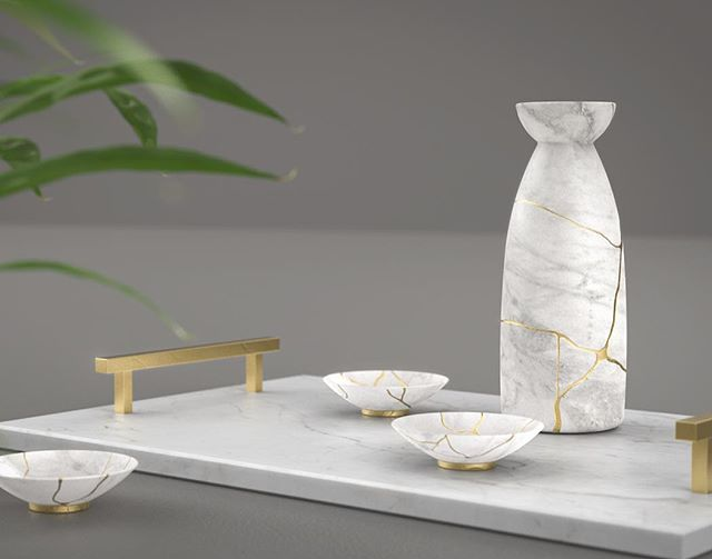 Kintsugi is a Japanese practice of filling the cracks of an object with gold to highlight its flaws and its history. . . Just because we have flaws doesn't mean we're broken, in time they just make us all the more beautiful . . . @renderweekly #renderweekly #industrialdesign #cg #design #3drendering #render #keyshot3d #keyshot #keyshotrender #japanese #sake #3d #solidworks #visualart #visualartist #photography #productrendering #productphotography #productdesign #designer #cgi