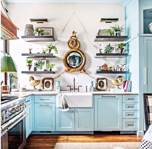 Kitchen designed by Charlotte based interior designer  Lisa Mende  featured in the  Southern Style Now  recent Savannah showhouse.