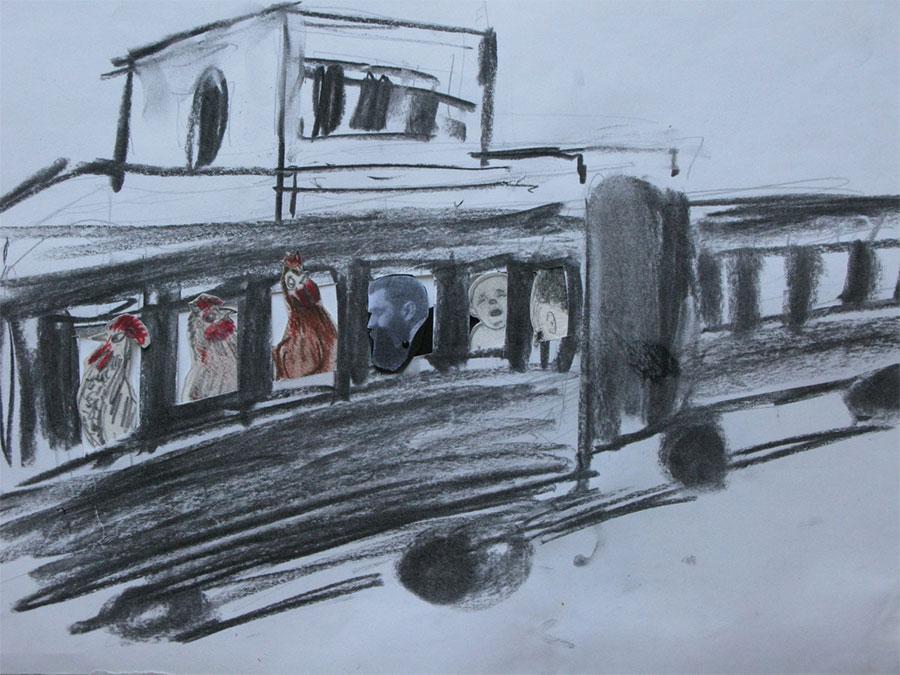 Herzl boarding the train to Jerusalem