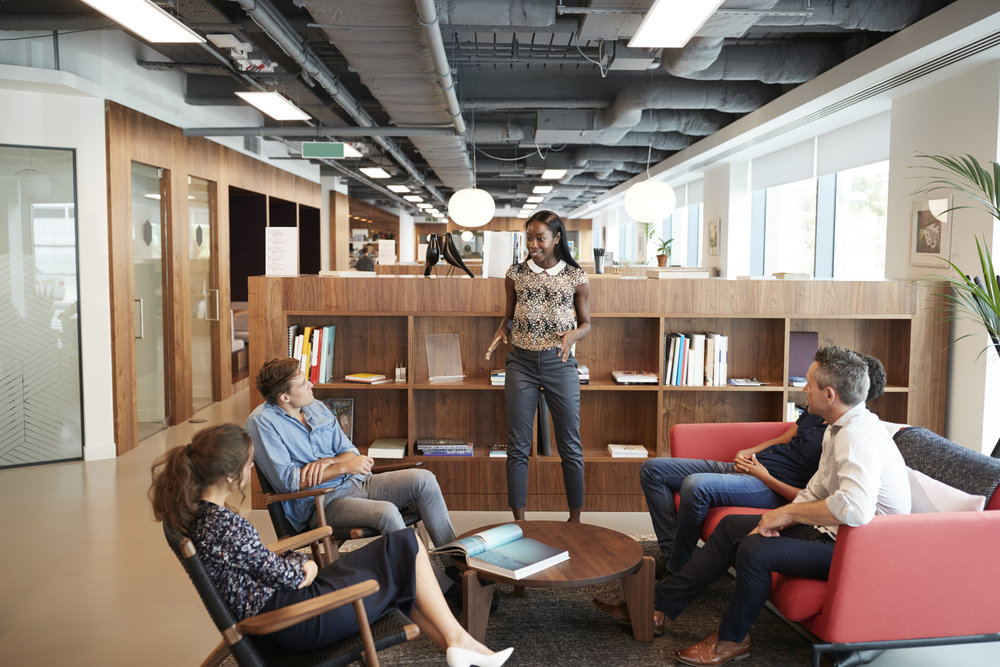 """Open plan offices have been found to increase distraction and reduce privacy"" -"