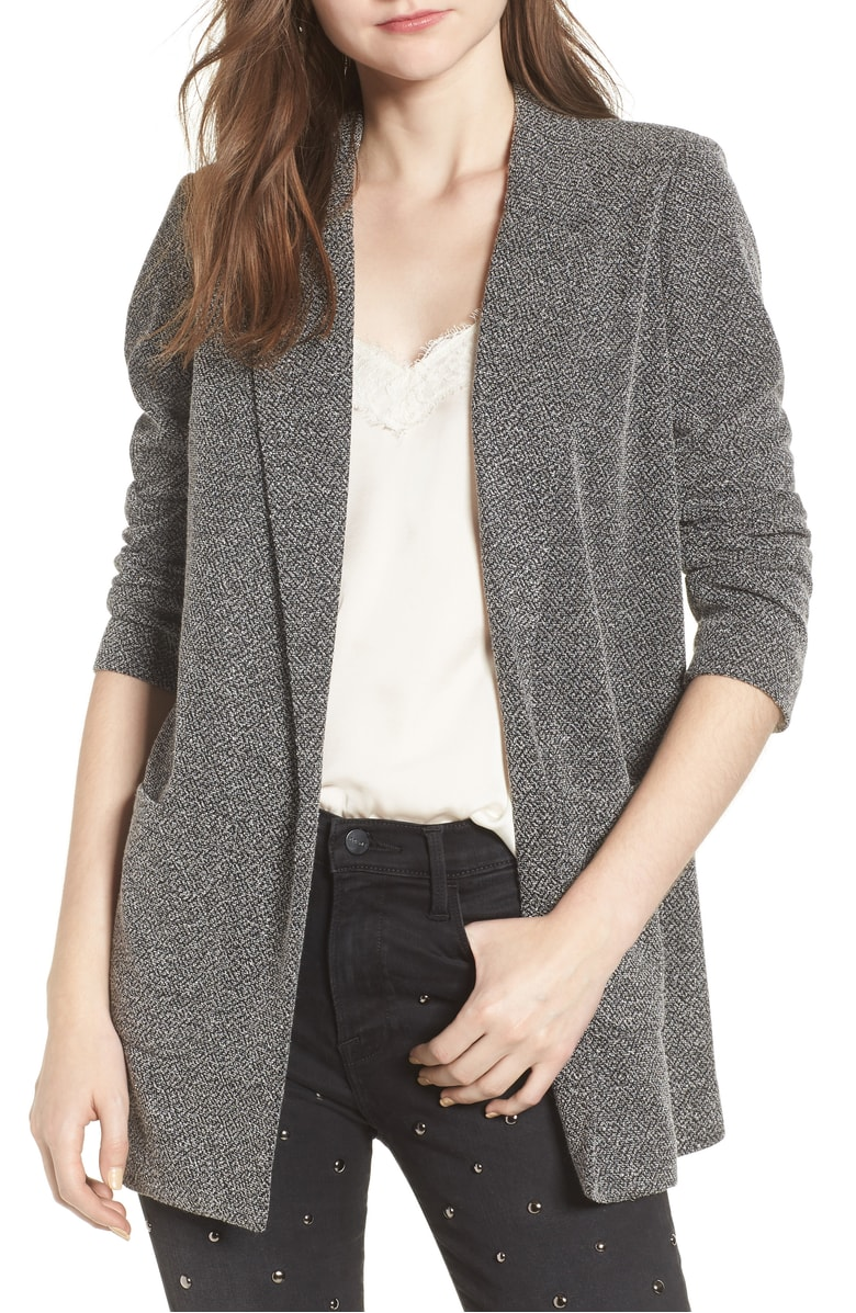 A Bleater? A Swazer? Some random sweater blazer combo  that makes me want to both cry and celebrate at the same time for only $50? Wear with joggers and a tank or with black skinnies, white skinnies... the list goes on. I want this. And again, $50.
