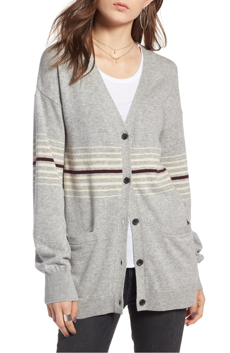 I love this because I am in to the whole prep school look. And it looks SO comfortable, and a little throwback. Under $60 long cardigan in a neutral, definitely a good purchase.  Teachers you need this!