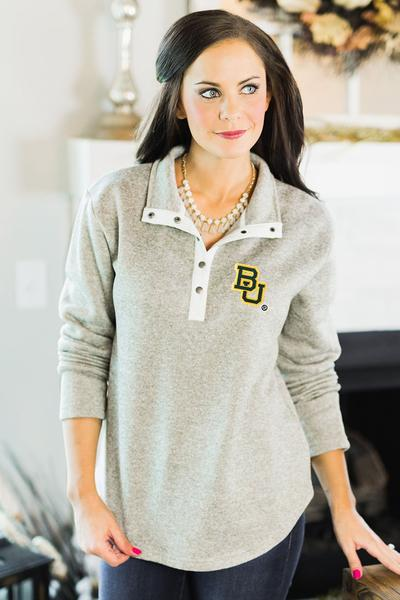 I actually have this with my initials on this rather than a Baylor Bears logo and I really love the fit and cut.