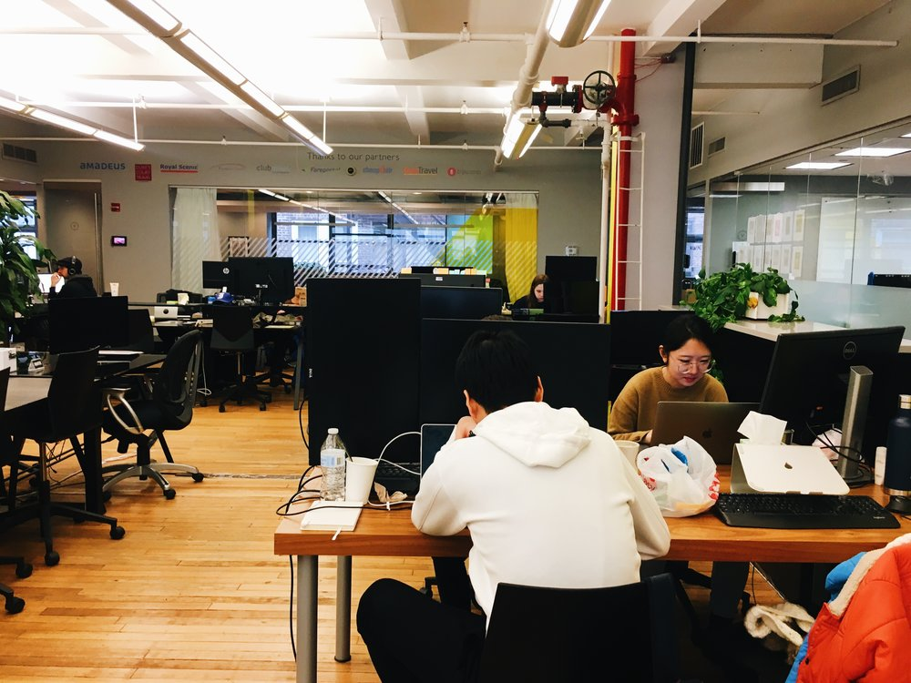 The Voyager HQ coworking space in Flatiron, New York.