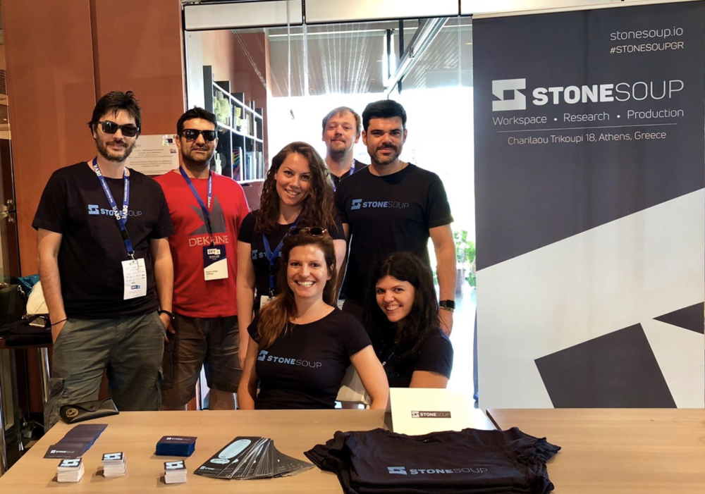 The Stone Soup crew attending DEVit conference in Thessaloniki