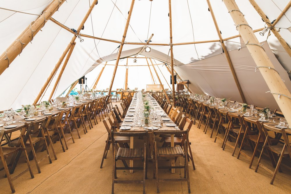 WOVEN MATTED FLOORING    Premium natural coloured matted floor per tipi $350