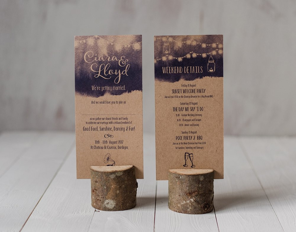 Boho Gypsy Wedding Invitation