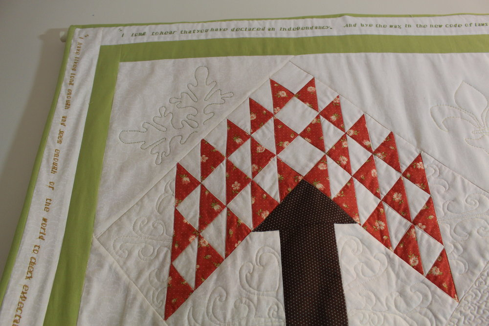 Adding quotations to a quilt