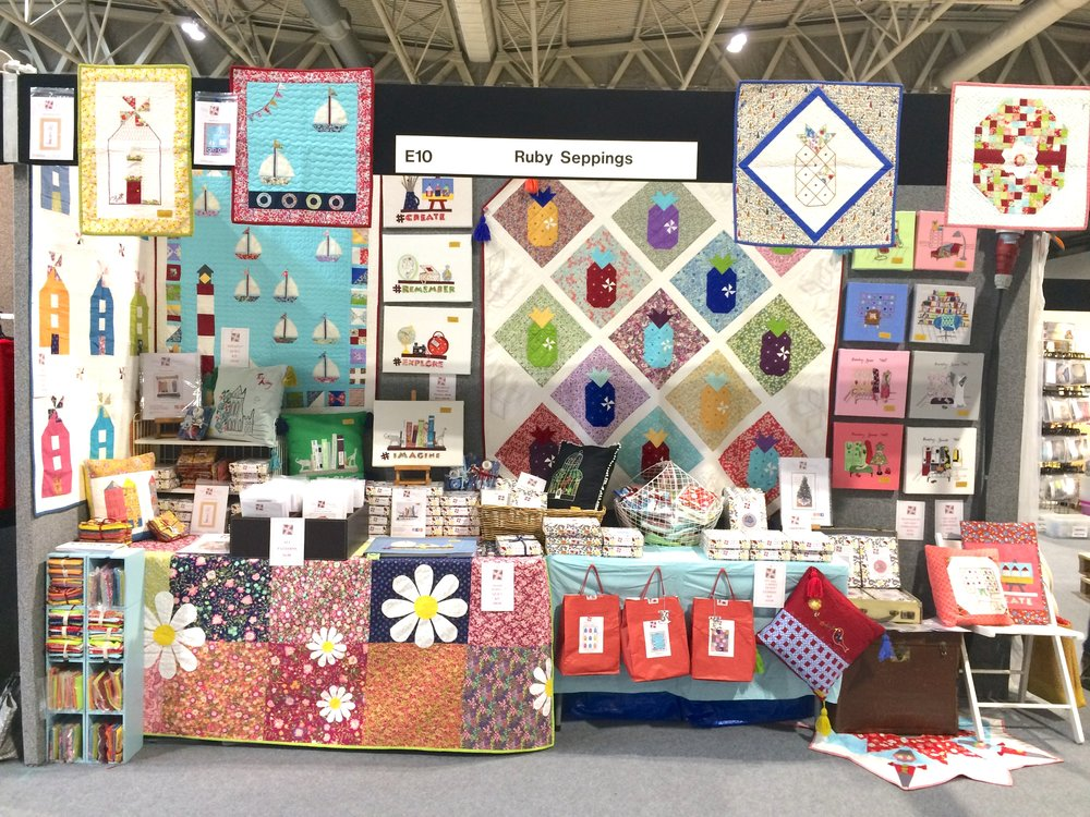 Festival of quilt stand.JPG