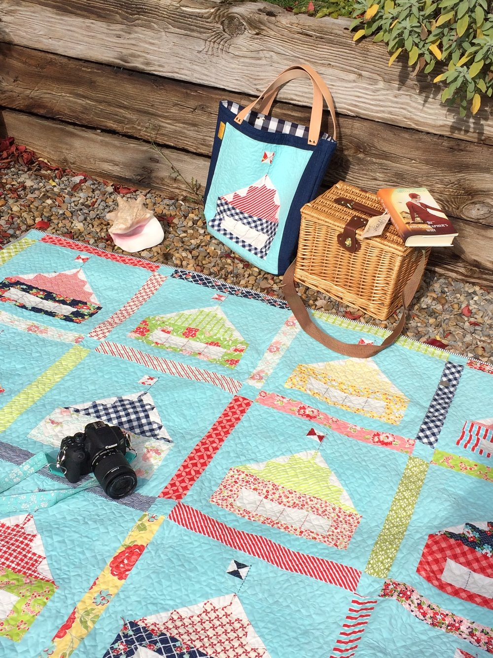 Shoreham quilt on location.JPG