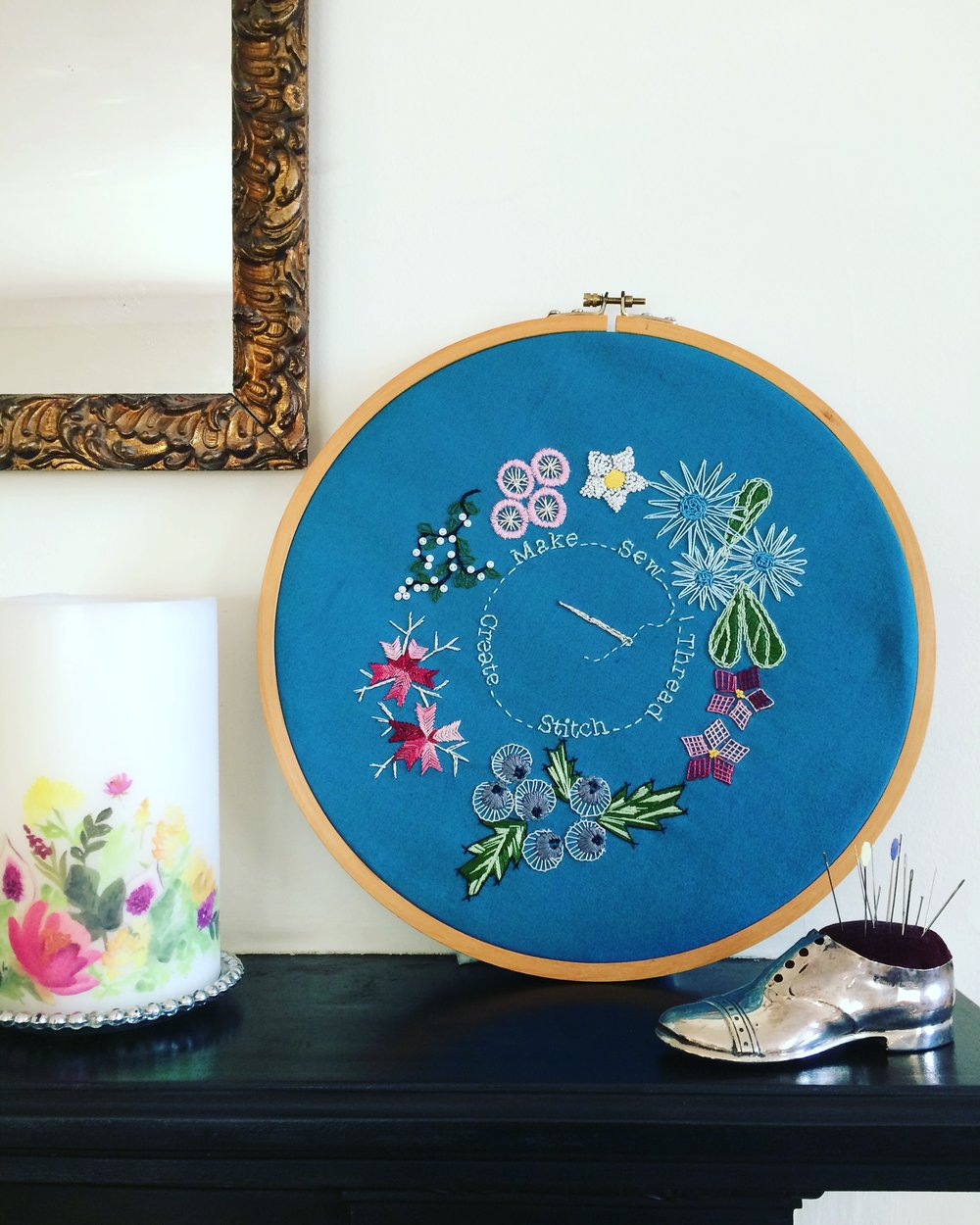 Winter Solstice embroidery