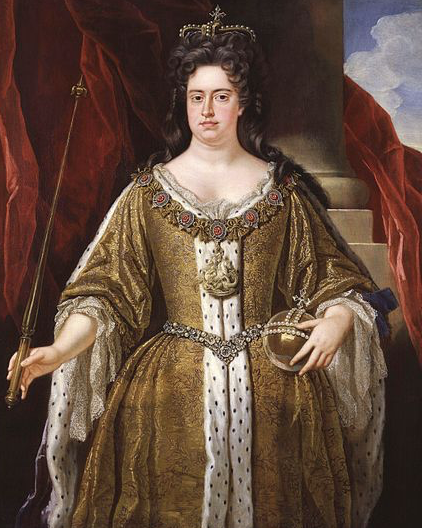 Queen Anne in 1702 painted by John Closterman