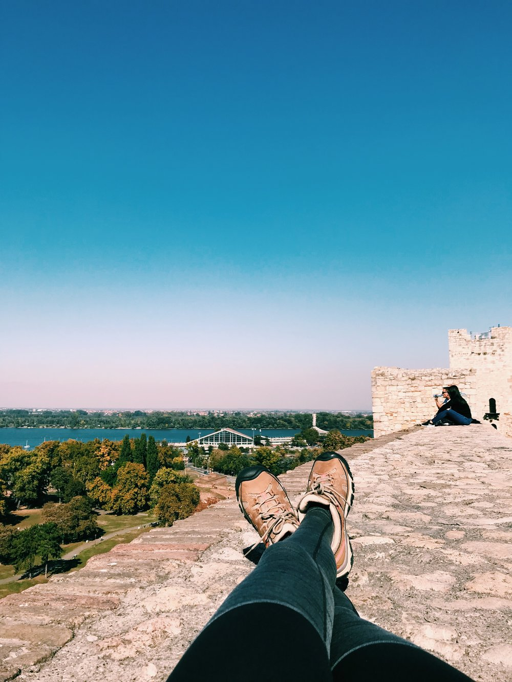 took a walk down to the  Danube River  and took a nap along the ancient fortress walls. so eastern euro bum of me I know. :)