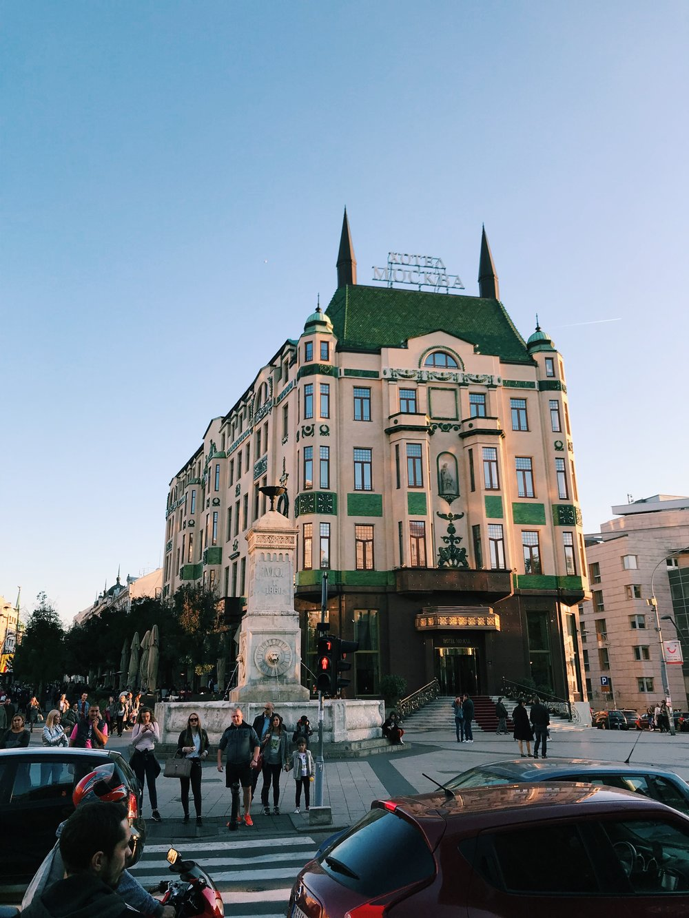 An architectural gem in the heart of the city.  @hotelmoskva