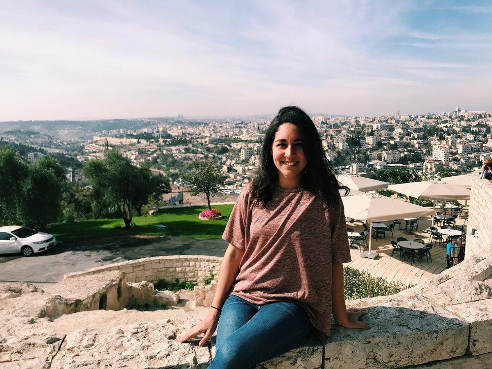 Jerusalem city scape & me