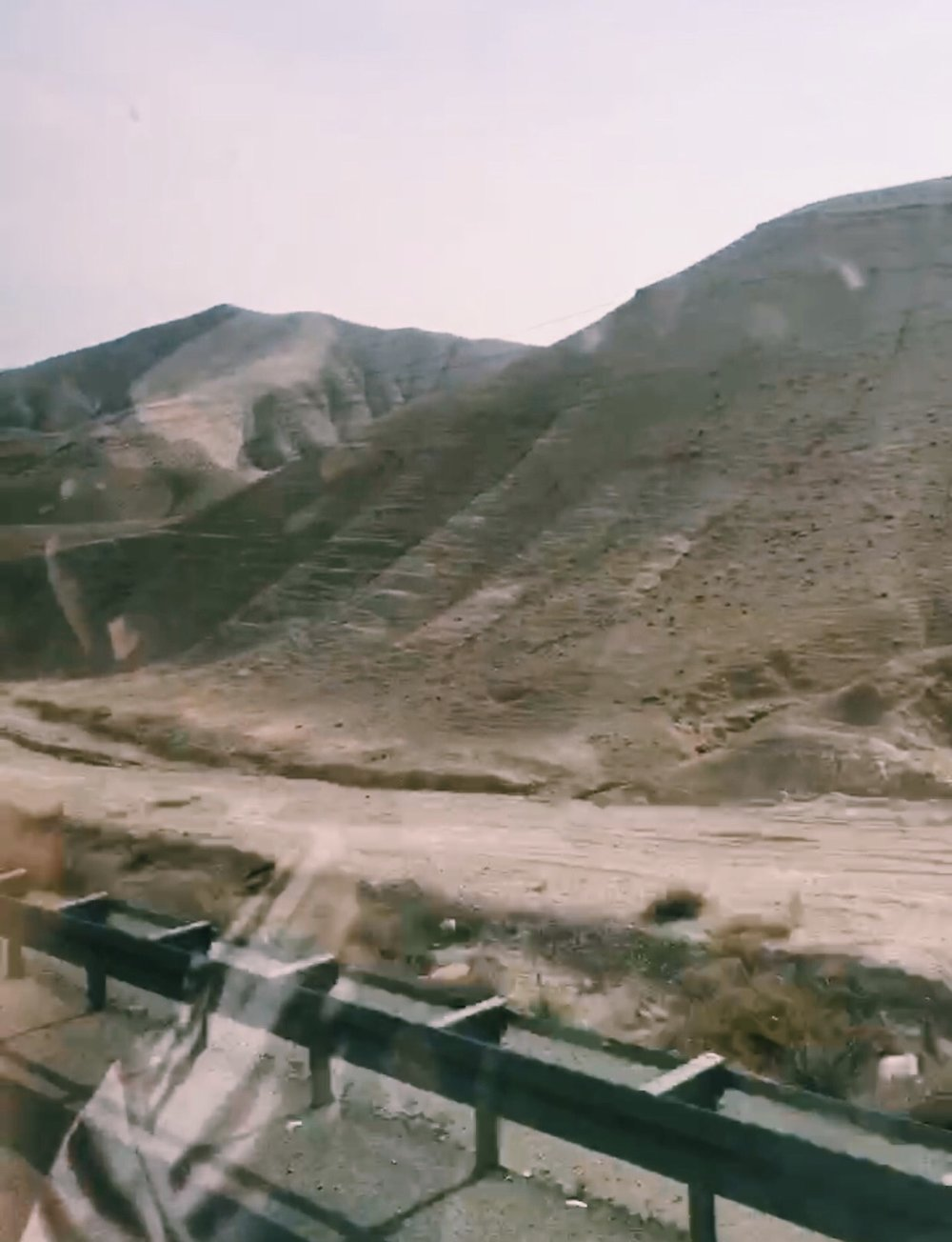 en route to the Dead Sea, descending 400 meters through the  Judaean desert