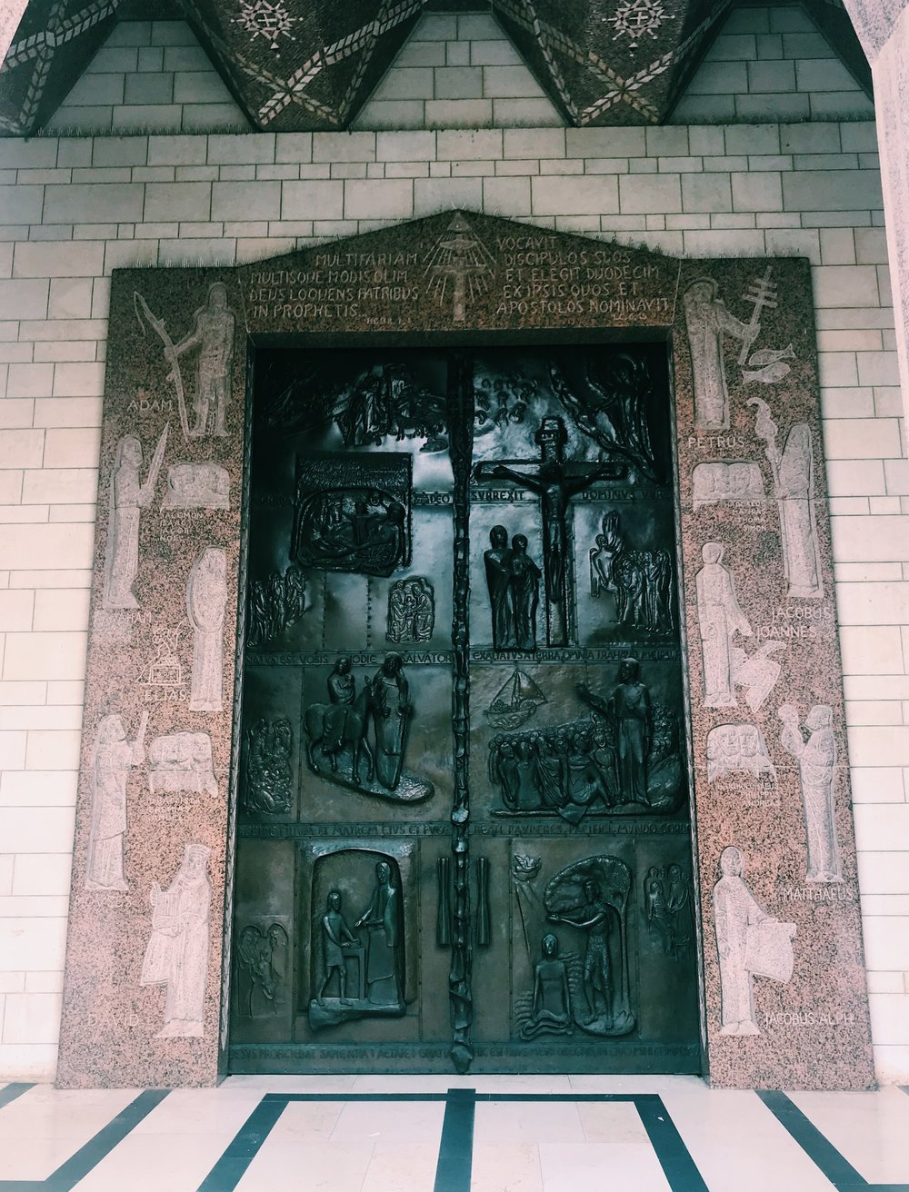 this bronze door took my breath away. each block depicting scenes from the life of Jesus.
