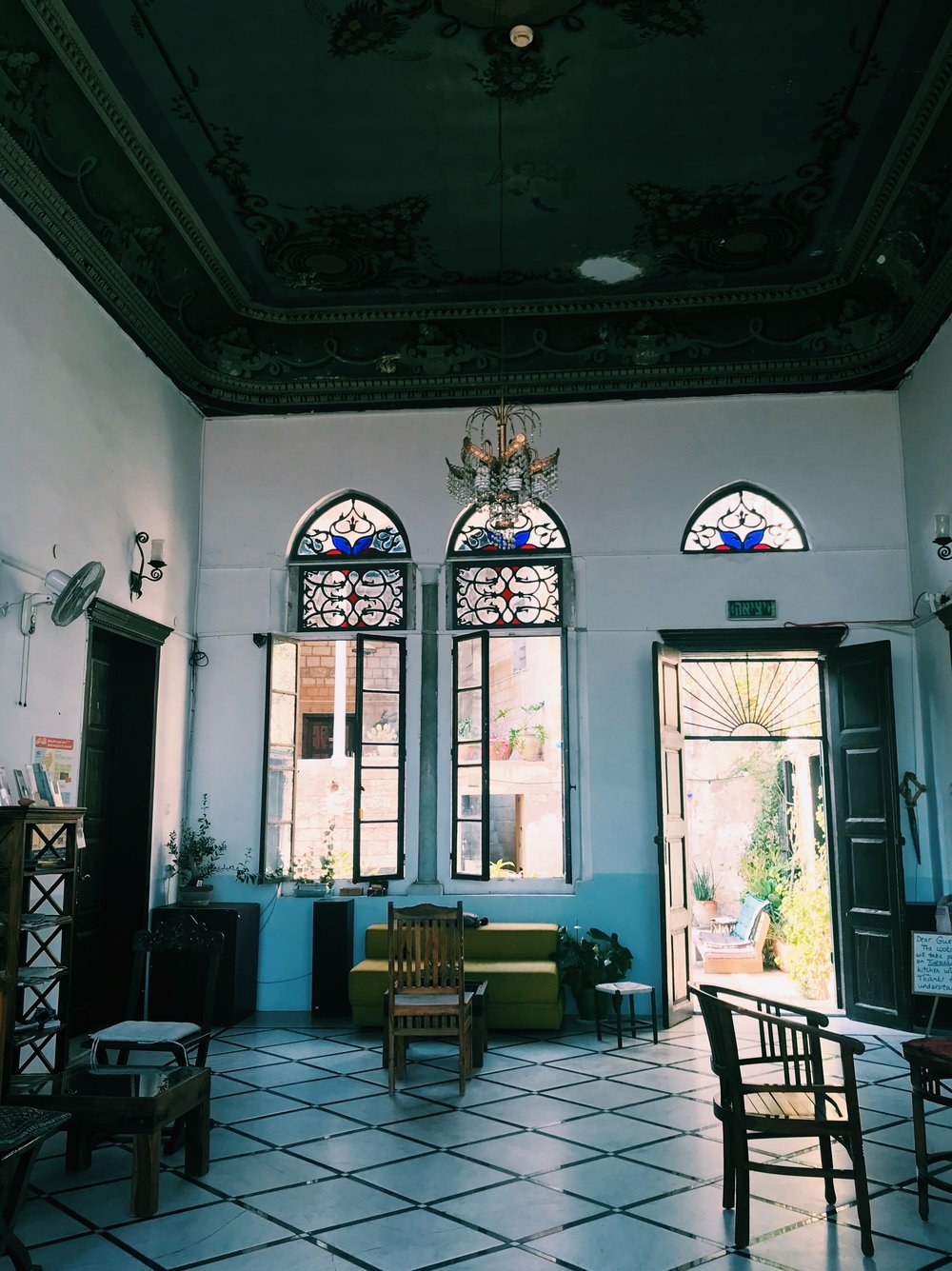 the three story mansion is run by Suraida Shomar Nasser, the granddaughter of the wealthy landowner for whom the inn is named. The Azar family was once one of he richest and most influential families in the Galilee.  - Jesus Trail Guide Book