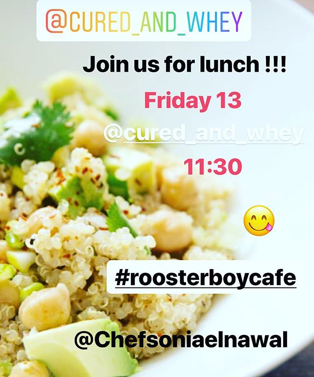 Come to the family style lunch this Friday @cured_and_whey @chefsoniaelnawal @roosterboygranola #familymal #community #share #foodie #guestchefseries