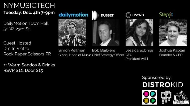 Upcoming Event - Daily Motion, Dubset, Cosynd, and Stemit - Sponsored by Distrokid!
