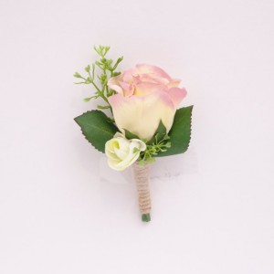 Rose Buttonhole Groom Wedding
