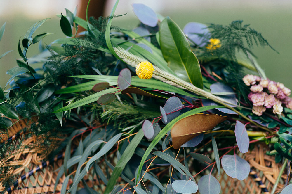 Foliage garlands make quite the statement to your day  Styling by wildathearthireandstyling - photography by Silverbird.