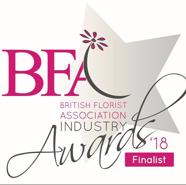 Super proud to have been a finalist at the @bfaflorist awards 2018! #thinkflowersthinkflorist #tyneandwear