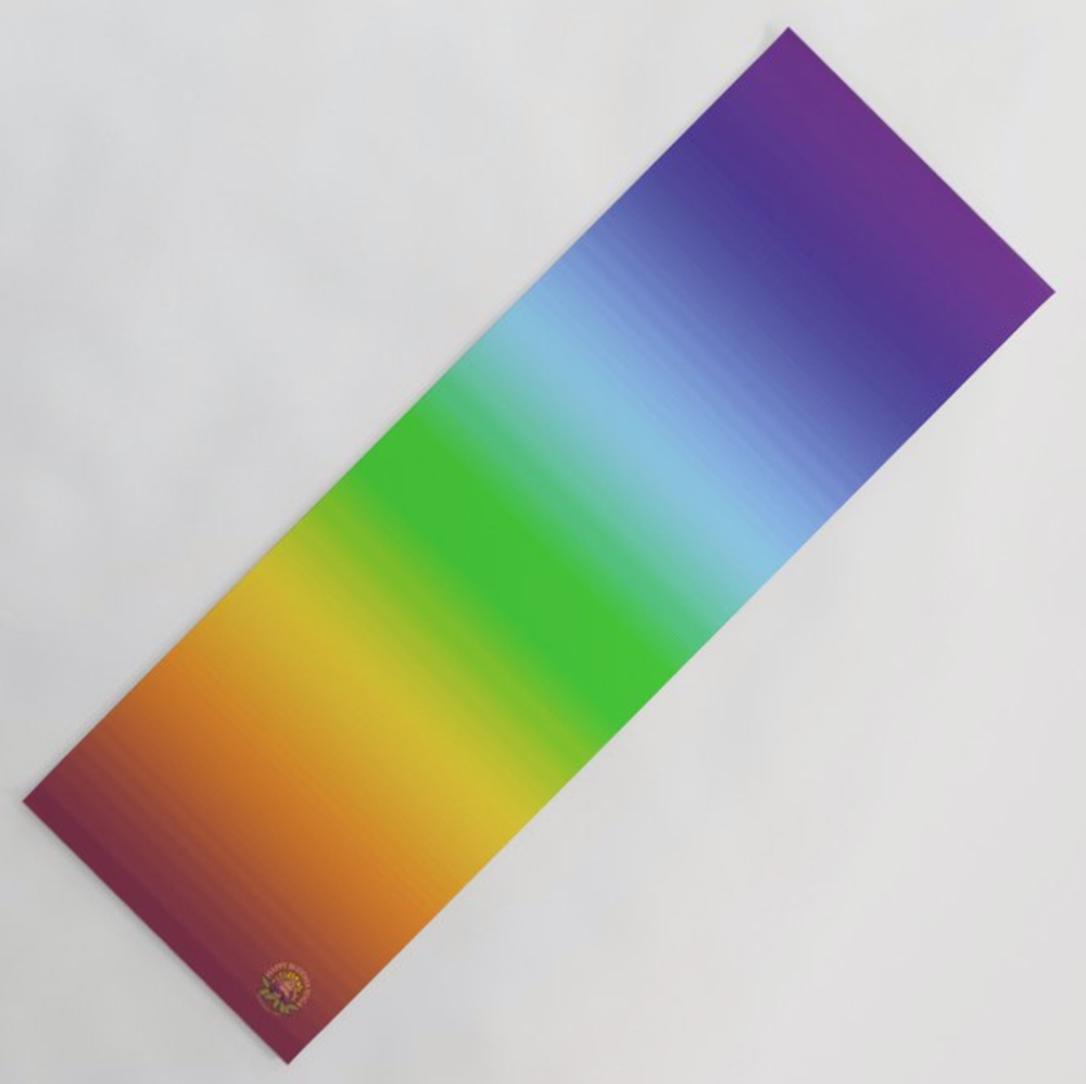 Latex-free Yoga mat infused with chakra energy