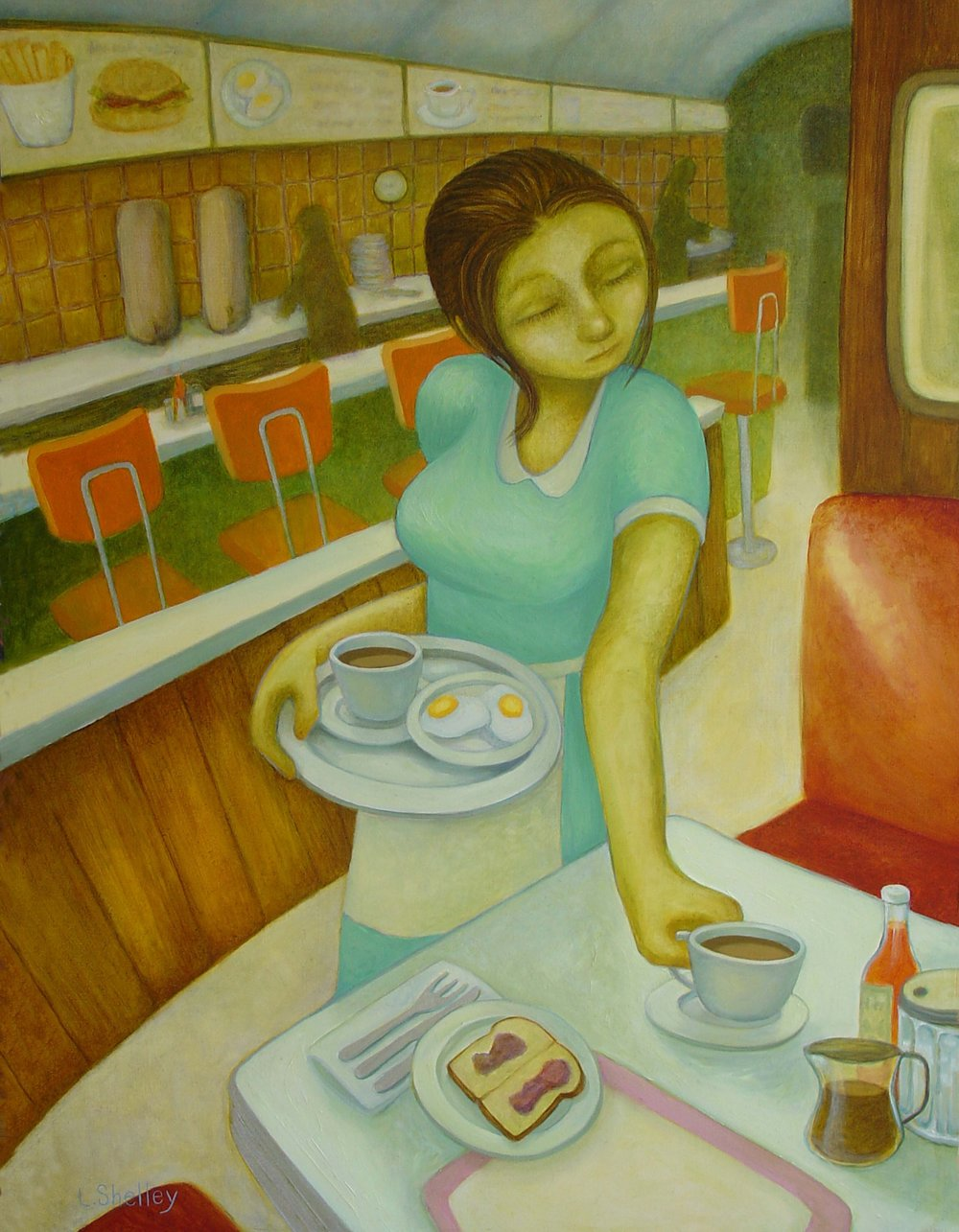 Diner Series - Coffee with Toast and Jelly - sold