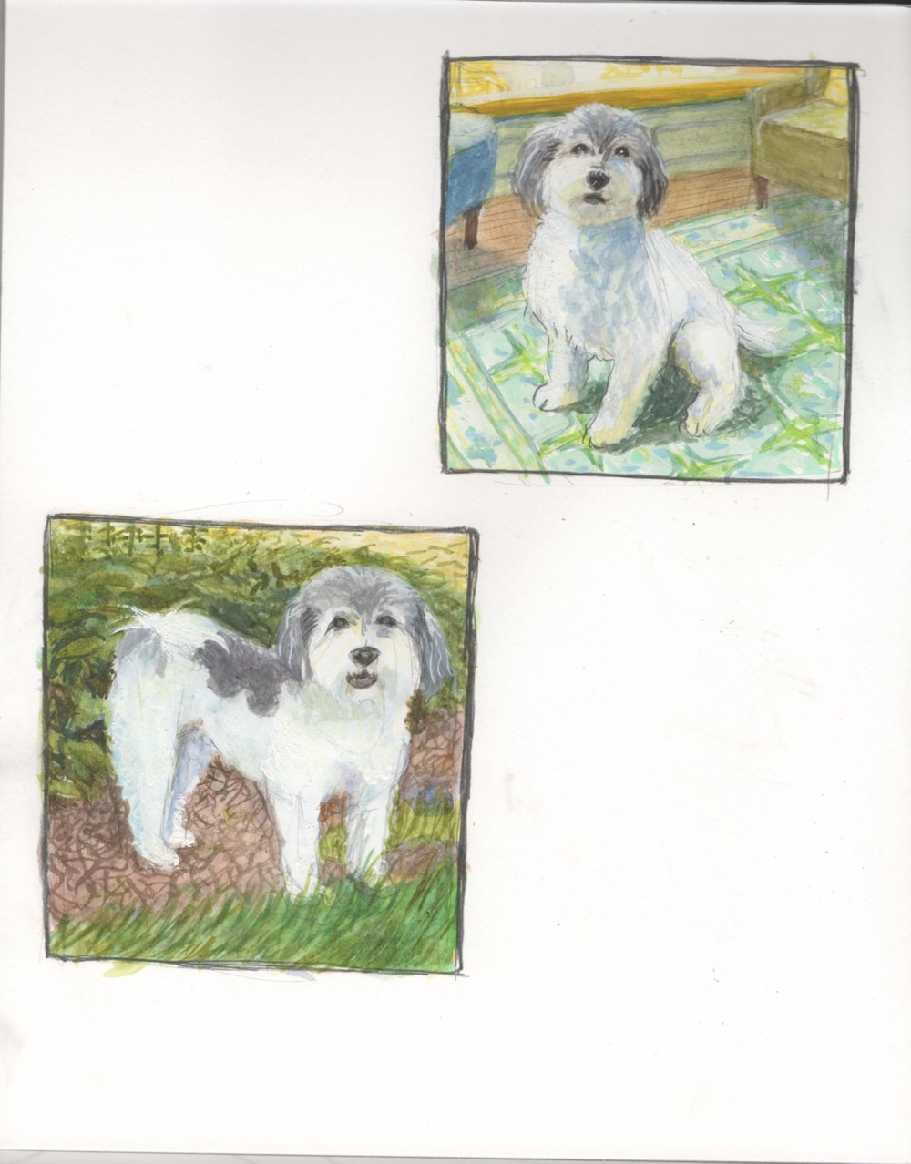 Sketches for Henry Portrait