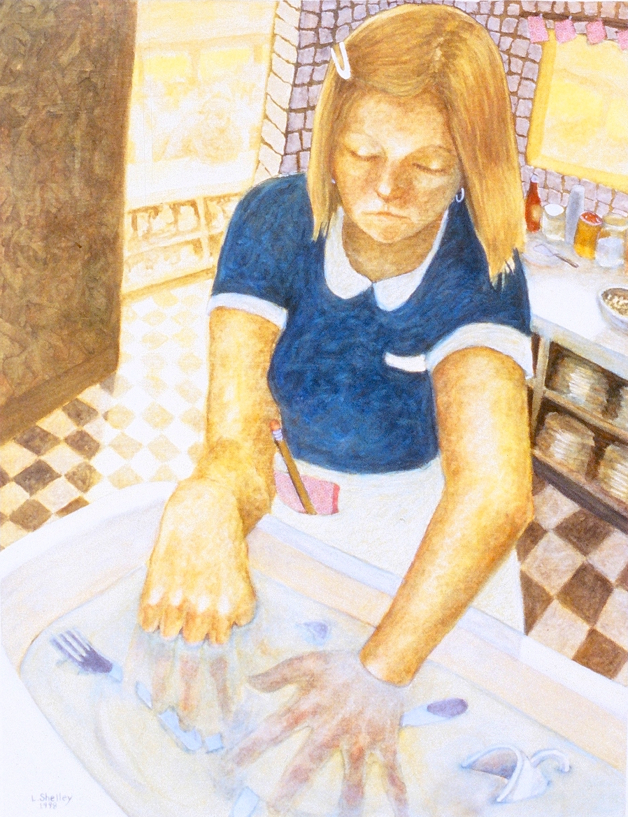 Diner - Washing Dishes (sold)