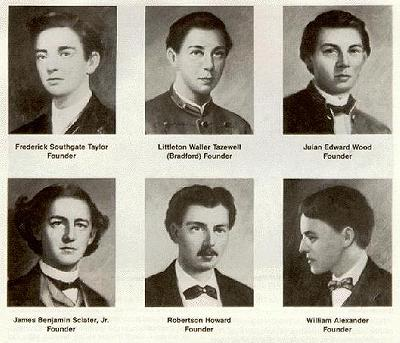 The founding fathers of Pi Kappa Alpha