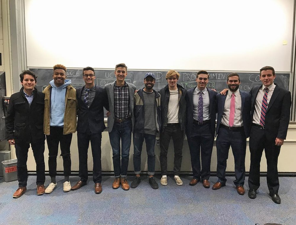 Brother Christoper Druke (third from left) with his 2018 IFC Executive Board
