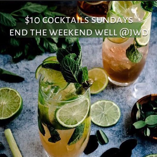 $10 Cocktails 🍹🎊all day Sunday.... an added bonus to our #50%offfoodjwd happening today.  Our beautiful WA Skyline has been stunning this weekend.  End the weekend not just WELL but RIGHT✅ Let our Bar crew create some amazing cocktails🎉for you.