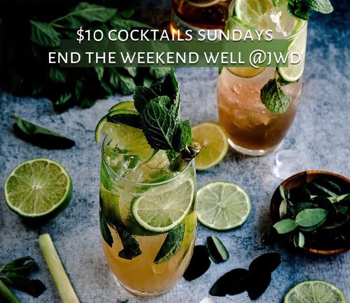 Sunday Funday is everyone's time to wind down from weekend and get ready for the work week ahead.  What's better than to wind down with some chilled soulful R & B and great cocktails?  Kick back, relax and enjoy a wonderful meal with some drinks from our amazing bartenders.  Sunday 12:00PM-10:00PM!