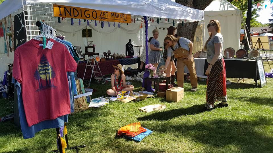 Indigo Art Collective Vendor at Flagstaff Hullabaloo in Arizona