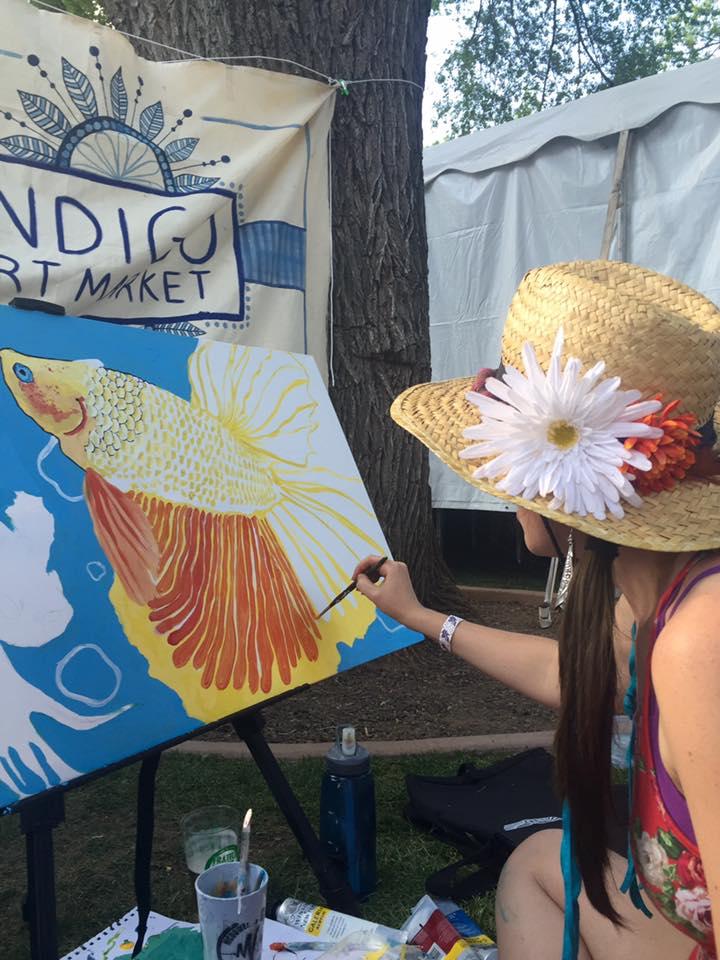 Artist Kayley Quick Live Paints at Flagstaff Hullabaloo