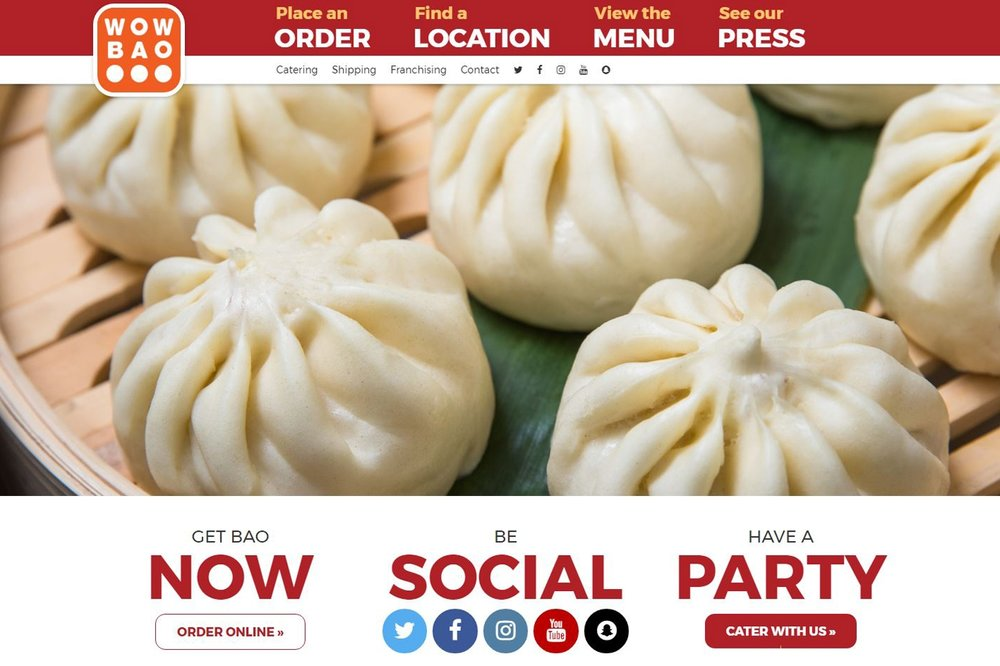 The Basics - Wow Bao's website, as an example, is mobile responsive and hits visitors with all important information immediately.