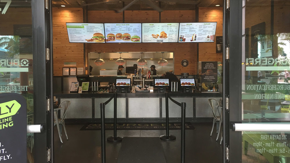 In store design is crisp, modern, and hip - BURGERFI is attracting tech savvy guests who expect a higher level of service and food quality than a traditional Fast Food Restaurant can provide, and they are doing it very well.
