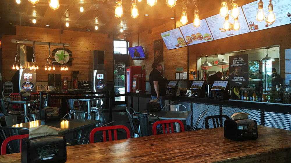 The Jupiter, Florida location with a full complement of NEXTEP foodservice technology - BURGERFI employs a future vision of Fast Casual burger restaurants, utilizing Touch Screen Self Order to transform the customer experience.