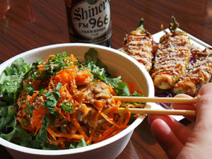 Craft beer, Thai food & sushi; what's not to like? -