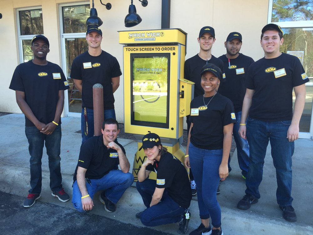 The Which Wich Crew embraces their new touchscreen technology -