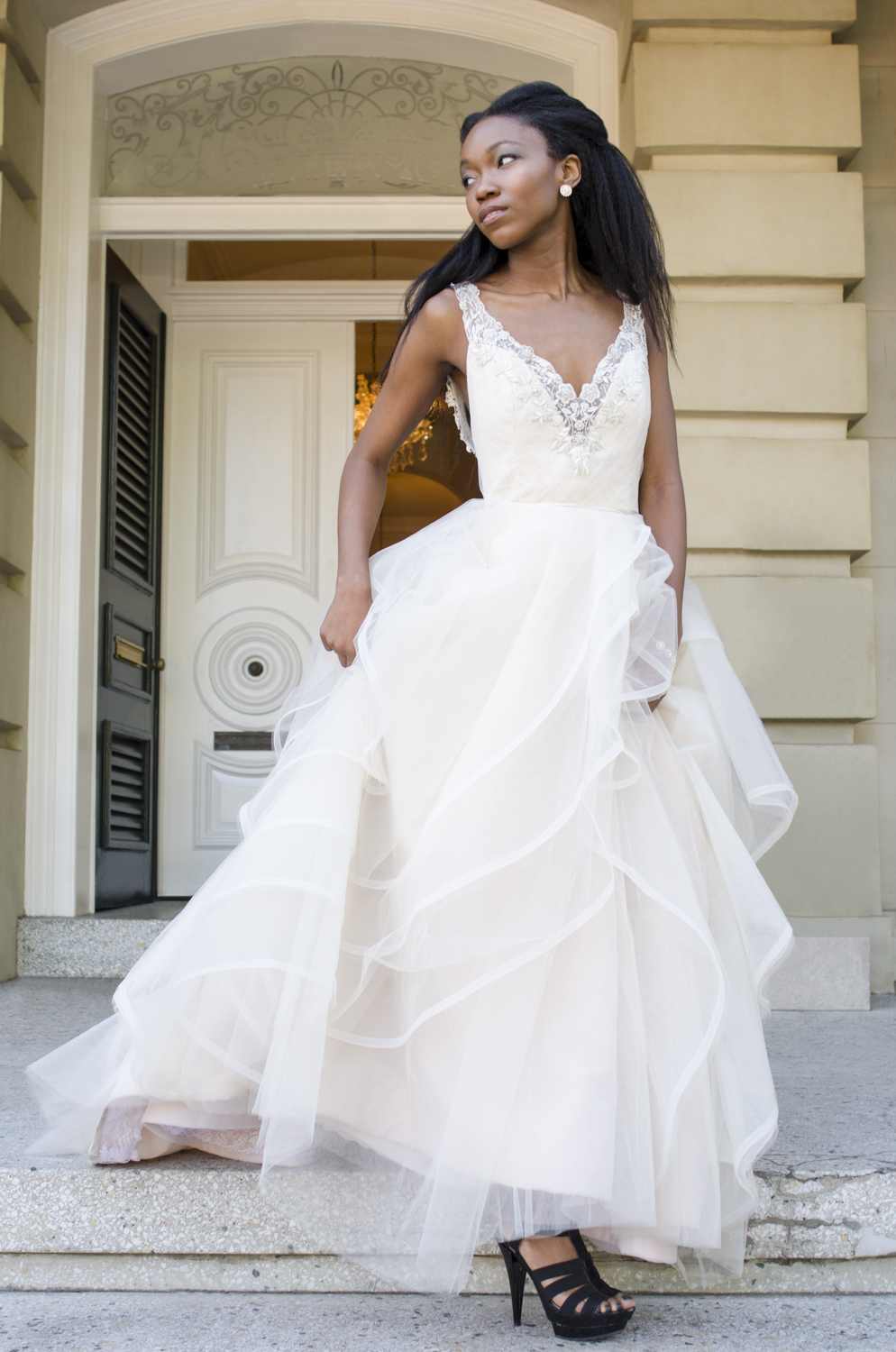 "Model: Niyna Spellman Hair and Makeup: Aly Barnett  Dress: ""Rory"" by Alvina Valenta Dress from: Ivory and Beau Location: Brockington Hall - Savannah, GA"