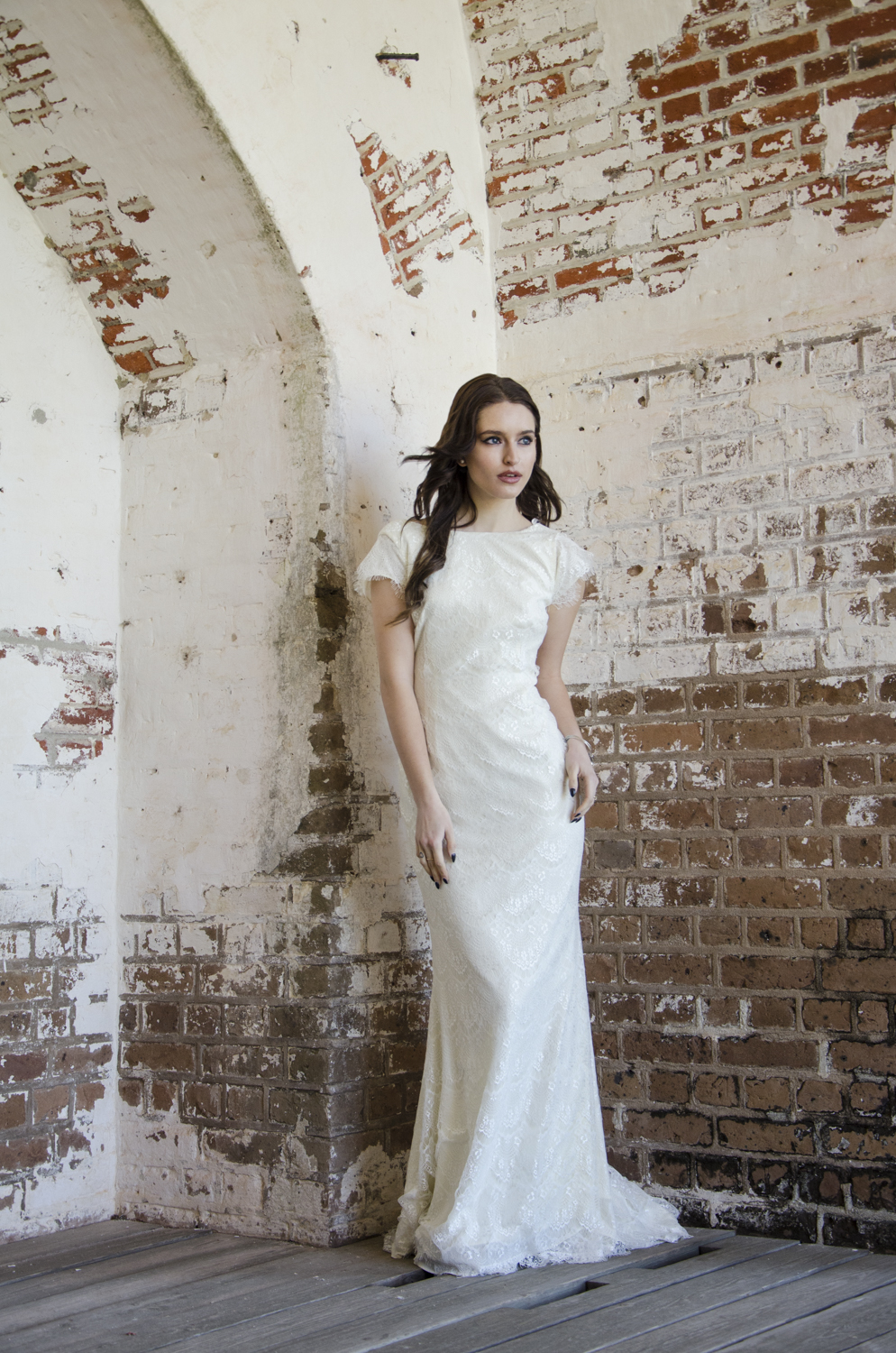 "Model: Alex Filipowski  Dress: ""Fin"" by Daughters of Simone Dress from: Ivory and Beau Location: Fort Pulaski - Savannah, GA"