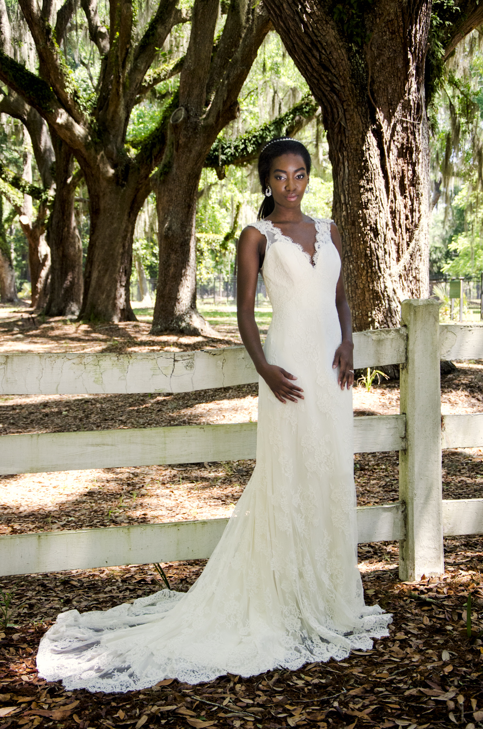 Model: Tenielle Adderley Makeup and Assistant: Ashley Lo Stylist and Hair: Brittany Stafford  Dresses From: Ivory and Beau Location: Wormsloe Historic Site - Savannah, GA