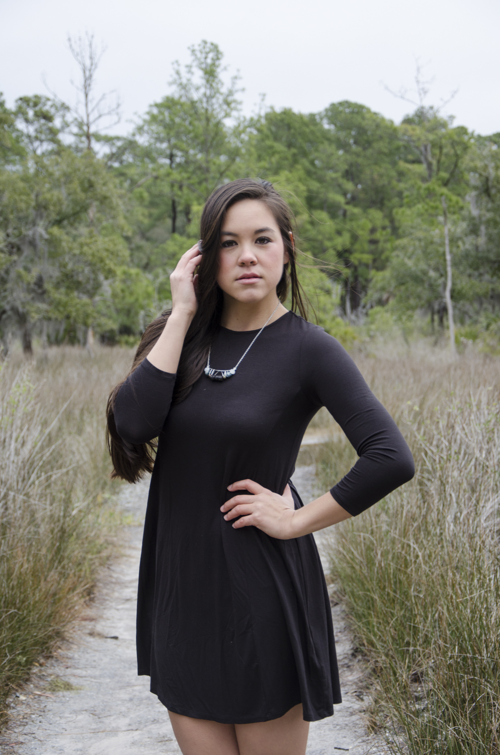 Jewelry: Pie Slices Model: Kayley Jacobs  Location: Skidaway State Park - Savannah, GA