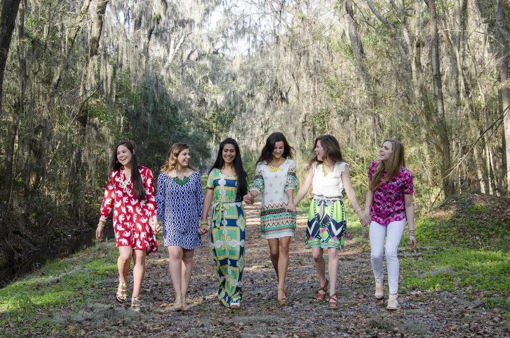Clothing: Threads Boutique Jewelry: LTD Jewels  Models: Kayley Jacobs, Elizabeth Dixon, Michelle Hernandez, Lee Robertson, Kaia Egan, Becky Dionne Location: Botanical Gardens - Savannah, GA
