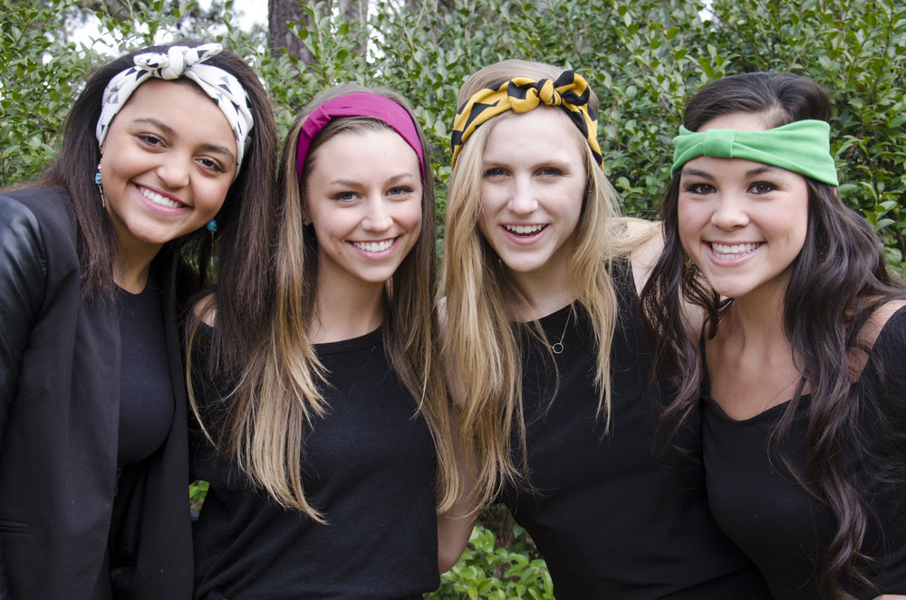Headbands: Heavenly Head Wraps Models: Kimberly Jacobs, Markie Stroud, Becky Dionne, and Kayley Jacobs